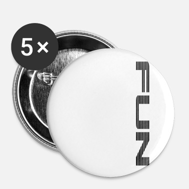 Plezier plezier - Buttons klein 25 mm (5-pack)
