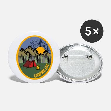 Camping Life Nature Scene Great Outdoors Hiking - Small Buttons