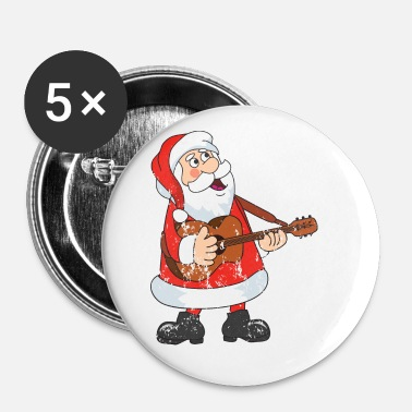 Advent Retro vintage Kerstmis van de grungekerstman - Buttons klein 25 mm (5-pack)