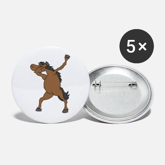 Gift Idea Buttons - Horse is dancing - Small Buttons white