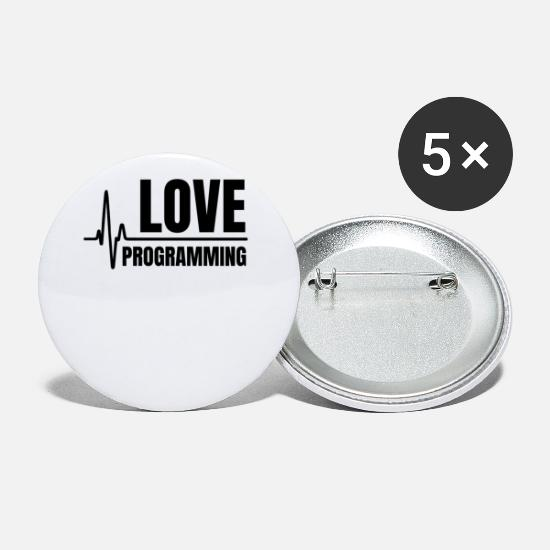 Occupation Buttons - Programming Love - Small Buttons white