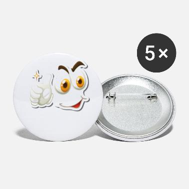 Face emoji fried egg facial expressions cartoon egg look - Small Buttons