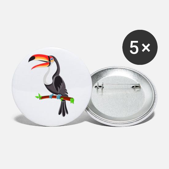 Career Buttons - Toucan design - Small Buttons white