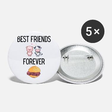Bavaria BEST FRIENDS FOR ALWAYS COW PIG LEBERKÄS FUNNY - Small Buttons