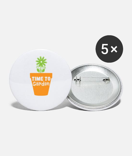 Earth Buttons - Time to Garden - Small Buttons white