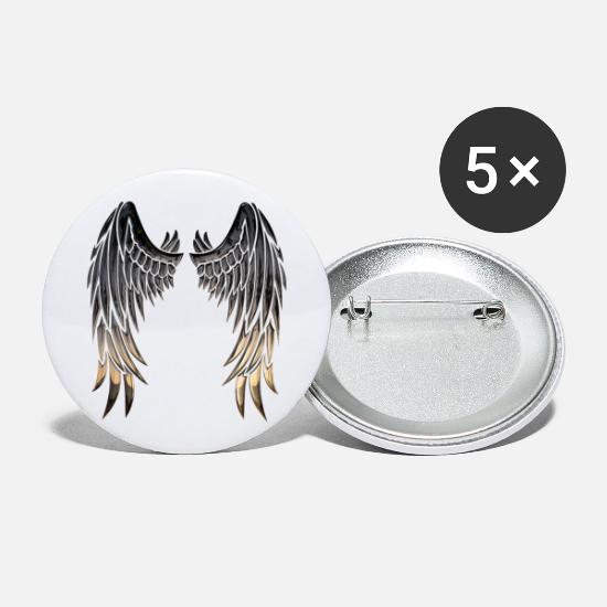 Skies Buttons - Wings wings - Small Buttons white