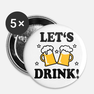 Prosit 43 Lad os drikke Mass Beer Prosit - Buttons/Badges lille, 25 mm
