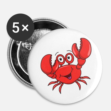 Crabe cancer - Badge petit 25 mm
