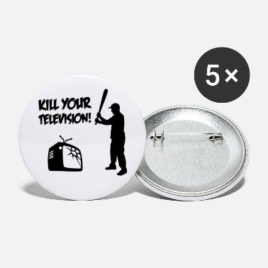 Television Kill Your Television - Tegen Media vervlakking - Buttons klein
