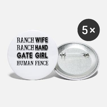 Ranch Ranch Wife Ranch Hand Gate Girl Human Fence Farm - Spille piccole