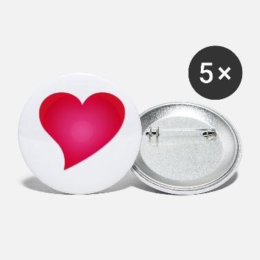 Cuore Herz / Heart / cuore / corazon - Buttons klein