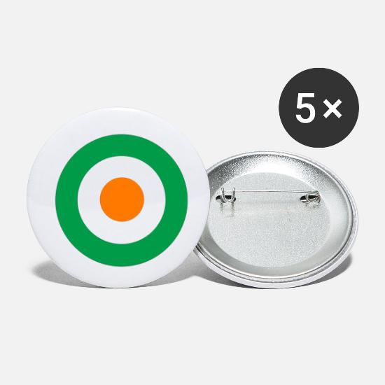Mods Buttons - Irish Mod - Small Buttons white