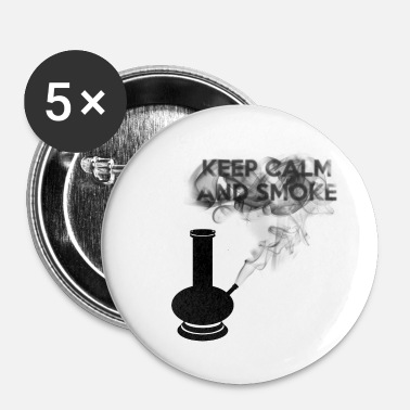 Keep Calm KEEP CALM AND SMOKE - Spilla piccola 25 mm