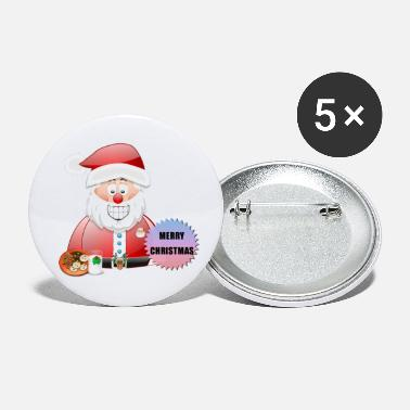 Scene Underwear Santa 16 Merry Christmas - Small Buttons