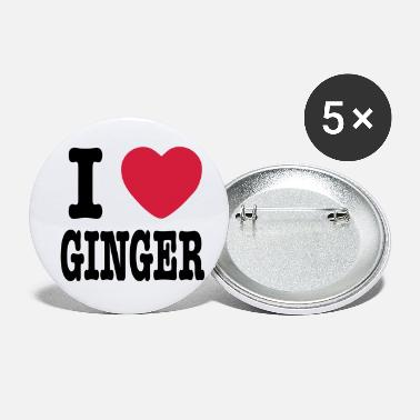 I Love Ginger - Small Buttons