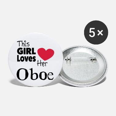 This Girl Loves Her Oboe - Chapas pequeñas