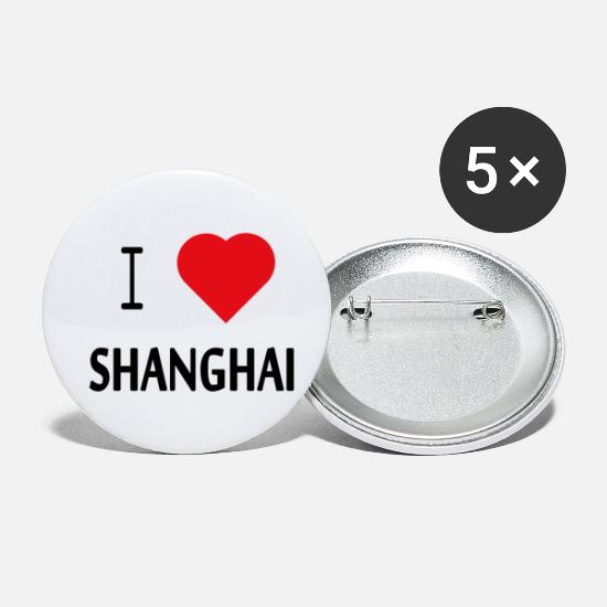 Love Buttons - I Love Shanghai - Small Buttons white