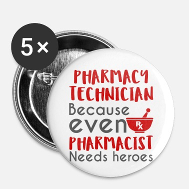 Pharmacie Pharmacie / Pharmacien: technicien en pharmacie, becaus - Badge petit 25 mm
