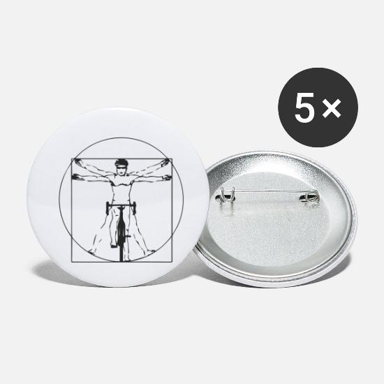 Bike Messenger Buttons - ART BIKER - Small Buttons white