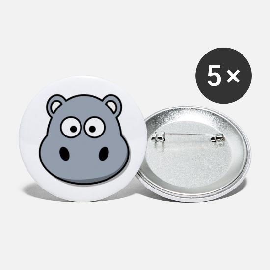Children Buttons - hippo - Small Buttons white