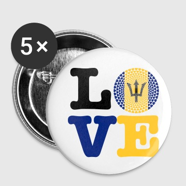 Barbados Barbados heart - Buttons small 25 mm
