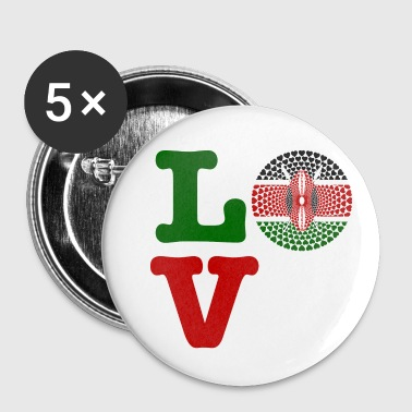 KENYA HEART - Buttons small 25 mm