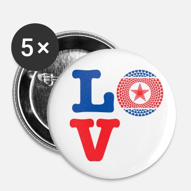 Demo KOREA REP DEMO HEART - Buttons/Badges lille, 25 mm