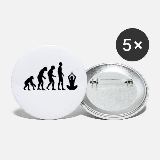 Man Buttons - Human Evolution Yoga - Small Buttons white