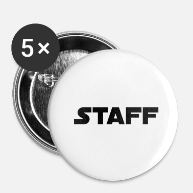 Staff Staff en noir - Badge petit 25 mm