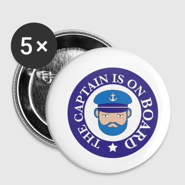 Baby On Board captain on board - Buttons klein 25 mm