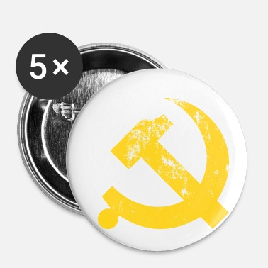 Communist Vintage Communist Hammer and Sickle - Buttons small 25 mm