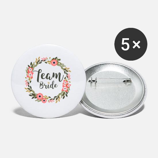 Team Bride Buttons - team Bride - Buttons klein wit