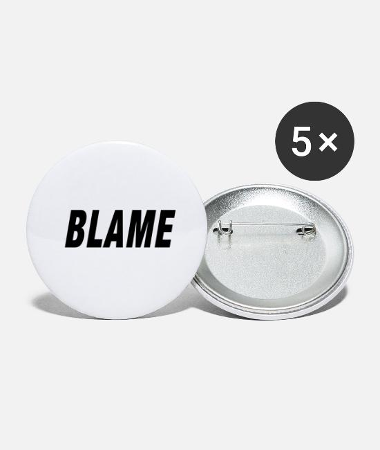 Rap Buttons - Blame Urban Fashion - Buttons klein wit
