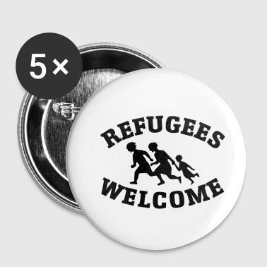Welcome refugees - Buttons small 25 mm