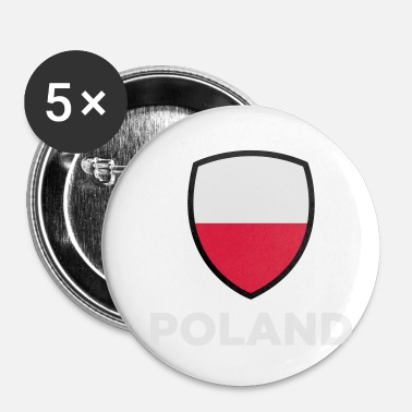 National National Flag Of Poland - Buttons/Badges lille, 25 mm