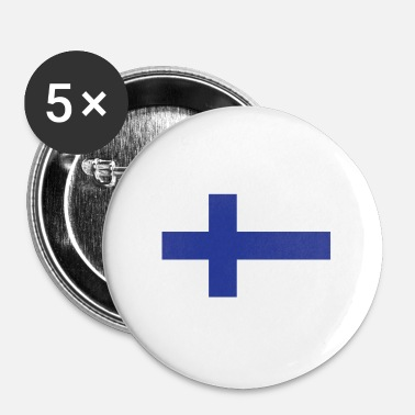 National Finlands nationale flag - Buttons/Badges lille, 25 mm