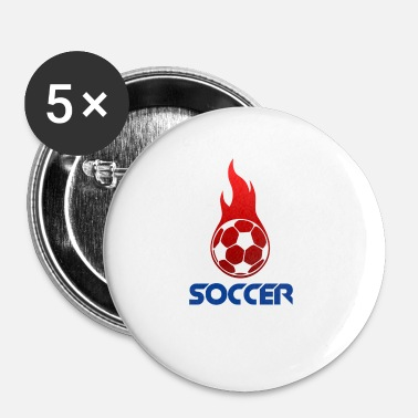 Soccer Ball CALCIO | Soccer Ball - Red - Spilla piccola 25 mm