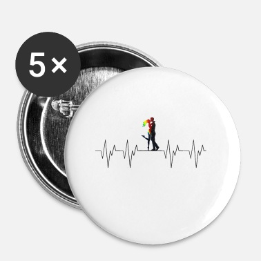 Couples Love Love Couple Couple Couple Heartbeat Heartbeat - Buttons small 1''/25 mm (5-pack)