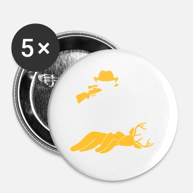 Killer Game A Hunter Shot A Deer In The Forest - Buttons small 25 mm