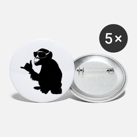 Singe Badges - singe - Petits badges blanc