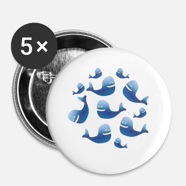 Baleine Baleines baleines - Badge petit 25 mm