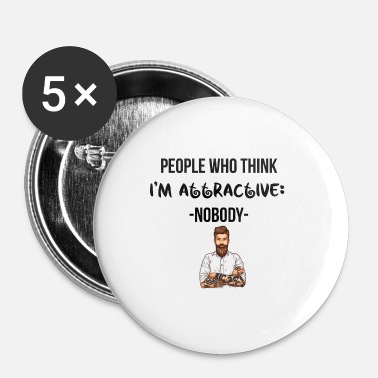 Attraktiv Jeg er attraktiv - Buttons/Badges lille, 25 mm
