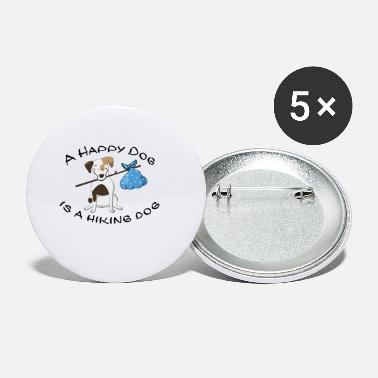 Dogowner Hiking Dogowner Dog Backpacker Nature Pet Love - Small Buttons