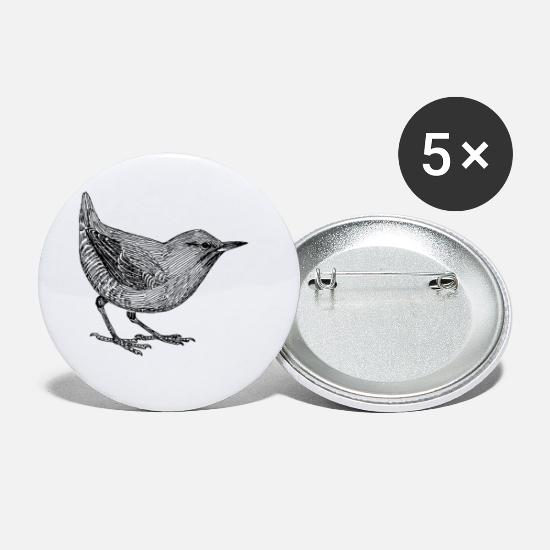 Fly Buttons - Small Bird - Small Buttons white