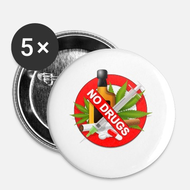 Drugs geen drugs - Buttons klein 25 mm