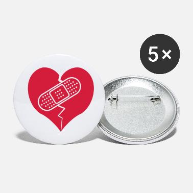Bandaid broken heart with bandaid - Small Buttons