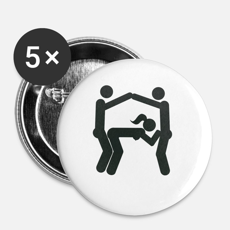 Sex Position Buttons - Eiffel Tower sex position (Eifeltower) - Small Buttons white