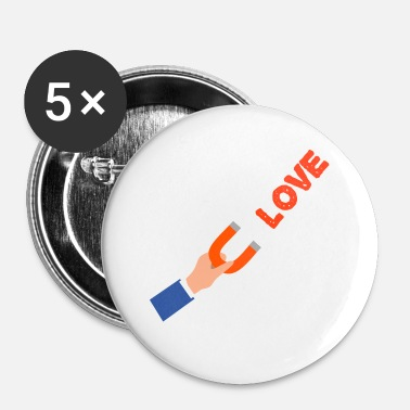 Aimant aimant amour - Badge petit 25 mm