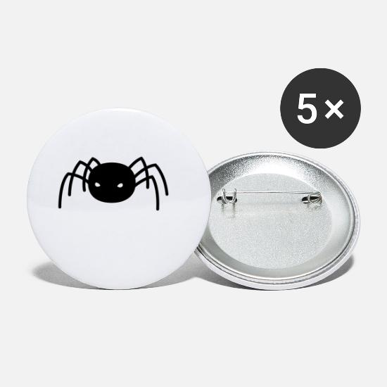 Hairy Buttons - spider - Small Buttons white