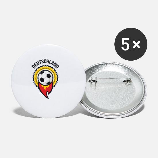 Play Buttons - Germany football nation gift - Small Buttons white